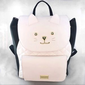 Here Kitty Kitty Betsey Johnson Cat Backpack NWT